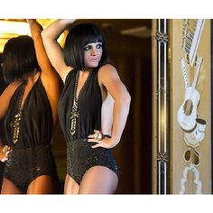 Britney Spears dons black wig and skimpy outfit for new perfume advert... ❤ liked on Polyvore