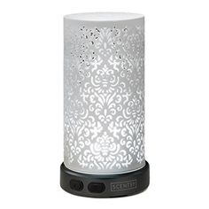Light dances through the intricate lattice work for a complex and sophisticated display.LIMITED LIFETIME WARRANTYScentsy diffusers are warranted to be free from defects in material and workmanship for the lifetime of the product. In order to claim a warranty, you must register your product at www.scentsydiffuser.com or have the original receipt.