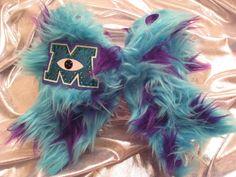 Monsters University Sullivan Furry Cheer Bow by GlitterGirlBows, $29.99