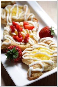 Lemon & Berry Filled Danish Pastries