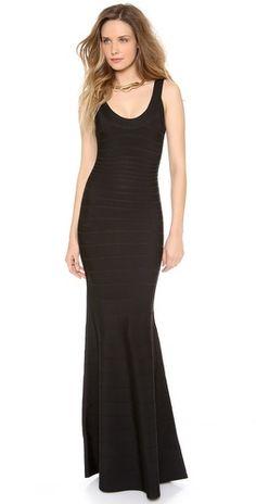Herve Leger Ellen Sleeveless Maxi Dress
