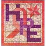 ~ Hope Cancer Awareness Quilt Pattern..kit available to buy ($92.50)….log cabin letters and HST's go together pretty slick!