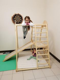 Indoor Toddler Gym, Outdoor Play Gym, Kids Indoor Playground, Toddler Learning Activities, Baby Gym, Natural Toys, Activity Centers, Kids Furniture, Kids Playing