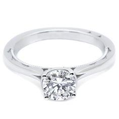#Tacori Simply Tacori #Platinum Solitare #Engagement #Ring