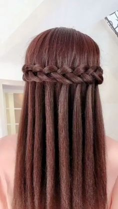 Geflochtene Frisuren 30 Braids Hairstyle Idea & Quiffed Ponytail Hairstyle Try celebrity hairstyles Easy Hairstyles For Long Hair, Down Hairstyles, Updo Hairstyle, Hairstyles Videos, Braids For Long Hair, Trending Hairstyles, Medium Hairstyles, Hairstyles Haircuts, Waterfall Hairstyle