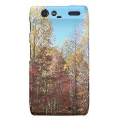 Pretty Autumn Trees Motorola Droid RAZR Covers