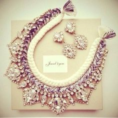 #Necklaces for neckline jewelry #fashion #white,purple ...PUSH and choose