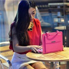 Fashionable Leather Bag Case with Builtin Stand for Apple iPad / iPad 2 / The New iPad / iPad 4 on Yoyoon.com.