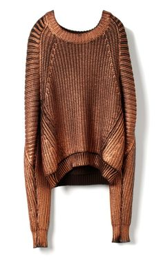 3.1 PHILLIP LIM, METALLIC SWEATER: bronze is so under-appreciated.
