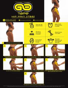 Simple kinesiology taping instructions for hip pain (ITBS)