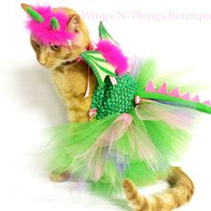 A personal favorite from my Etsy shop https://www.etsy.com/listing/244581218/dragon-pet-costume-4pc-pet-tutu-dress