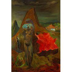 Carybé<br>Vento – 90 x 62 cm – OST – Ass. CID e Dat. 1943<br>Esta obra está reproduzida no livro do artista patrocinado pela Odebrecht na página 105