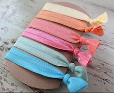 Super cute ribbon hair ties , love!