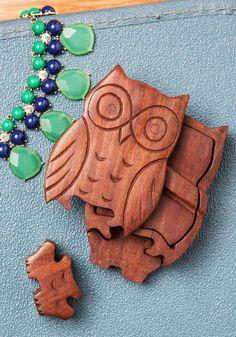 Owl of Your Things Keepsake Puzzle Box Pinned by www.myowlbarn.com