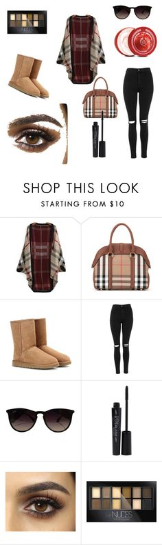 """""""Untitled #110"""" by dr-azzko ❤ liked on Polyvore featuring Burberry, UGG Australia, Topshop, Ray-Ban, Smashbox, Maybelline and The Body Shop"""