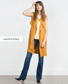 #zaradaily #wednesday #woman #waistcoat #shirt