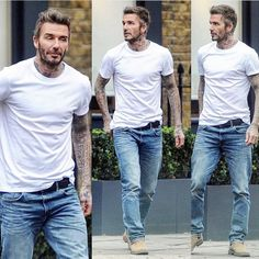 David Beckham Jeans, David Beckham Style, Ryan Gosling Style, New York Style, My Style, Military Fashion, Mens Fashion, Casual Outfits, Fashion Outfits