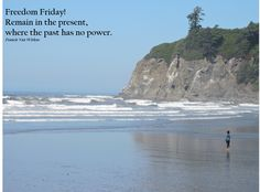 Mindful moments on the rugged shore of Ruby Beach, Washington. Olympic peninsula.