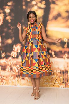 Shop for African midi dresses on We carry wide selection of African style midi dresses for sale at best prices. Best African Dress Designs, Best African Dresses, Latest African Styles, African Fashion Ankara, African Print Dresses, African Attire, African Outfits, African Lace, African Prints