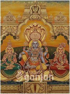 Mysore Painting, Tanjore Painting, Krishna Painting, Indian Gods, Indian Art, Traditional Paintings, Traditional Art, Rangoli Ideas, Lord Shiva Family
