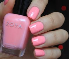 Zoya Nail Polish in Laurel - a warm pastel pink with the slightest hint of sheen to mimic a petal soft finish.