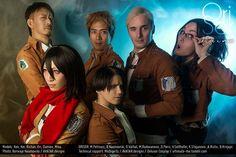 One Hell of a Bunch - Delusor(Damien) Levi, Nile Dok, Mikasa Ackerman, Hanji Zoe, BNaumovski(Borivoje/Ori) Erwin Smith Cosplay Photo - Cure WorldCosplay