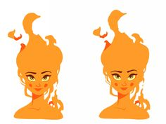 Fire Girl Animation 🔥 by Aleksandar Savic Character Design Challenge, Character Design Cartoon, Character Design Animation, Character Art, Animation Reference, Art Reference, Fire Animation, Vector Animation, Cartoon Kunst