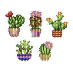 Perler Bead Designs, Perler Bead Art, Peyote Patterns, Beading Patterns, Crochet Patterns, Pearler Beads, Fuse Beads, Cactus, Art Perle