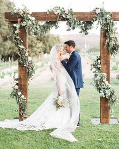 Floral garland on wedding ceremony arbor wedding ceremony decor Couples Will Be Crazy for these 2019 Wedding Trends Wedding Ceremony Ideas, Wedding Arbors, Wedding Trends, Altar Wedding, Wedding Reception, Arbors For Weddings, Beach Weddings, Simple Wedding Arch, Wedding Backdrops