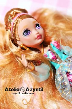 OOAK Custom Ever After High Repaint Ashlynn Enchanted by Azyntil