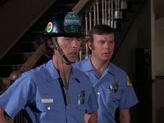 "Randolph Mantooth playing Johnny Gage on the 1970's television series ""Emergency!"" wearing a Topgard®."