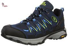Bruetting Expedition, Chaussures de Randonnée Hautes mixte adulte, Bleu (Marine/blau/lemon), 44 EU - Chaussures brtting (*Partner-Link)