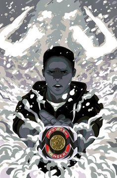 Zack: Mastodon! Power Rangers Fan Art, Power Rangers Comic, Mighty Morphin Power Rangers, Power Ranger Black, Green Ranger, Black Power, Comic Books Art, Comic Art, Desenho Do Power Rangers