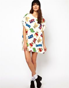White Cotton Blends Round Neck Long Sleeve Print Tops JC364-1 US$19.3