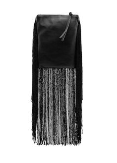 Leather Bag with fringes, chain shoulder strap and top zip fastening.    http://shop.mango.com/US/p0/mango/bags/fringed-leather-bag/?id=83601004_02=1=bolsos.vertodo_bolsos_she=0==1358459131249