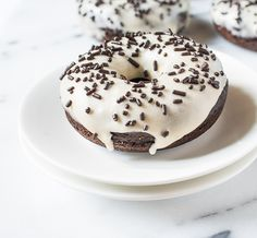 Chocolate Stout Doughnuts with Stout Cream Cheese Glaze