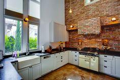 industrial interior design kitchen - Google Search