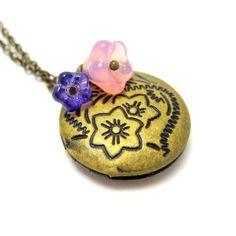 Locket Necklace  Eden Brass