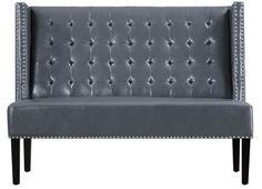 Halifax Leather Kitchen Bench