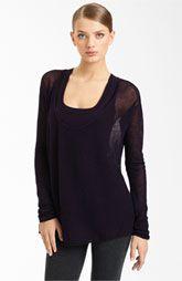 Donna Karan Collection Mesh Cashmere Top