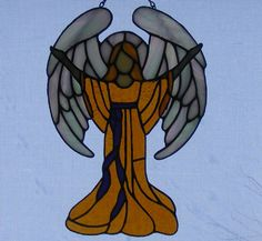 Stained Glass Angel - Praise    tjn