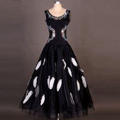 De baile Vestido Moderno Vals estándar de la competencia de diamantes de imitación Vestido n050b in Ropa, calzado y accesorios, Trajes de baile, Trajes de baile para adultos | eBay