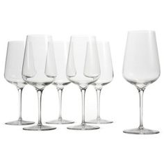 Check out this item at One Kings Lane! S/6 Red-Wine Glasses