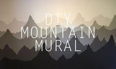 DIY Mountain Mural - YouTube