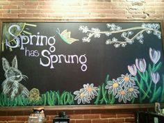 My spring chalkboard!