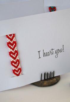 mamas kram: I heart you - Freundschaftsarmband