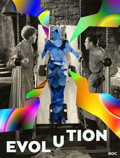 """""""Evolution"""" Image noir et blanc mise à jour, #Graphism ROC Romain Cottrel"""