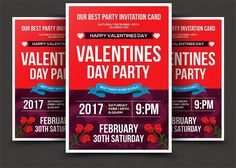 Valentines Day Psd Flyer Template. Flyer Templates. $6.00