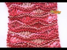 Receita de Tricô: Ponto de ondas em tricô