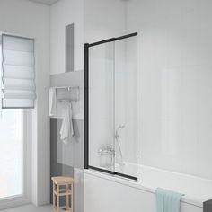 Parawan nawannowy SKATE BLACK WELLNEO - Parawany nawannowe - w atrakcyjnej cenie w sklepach Leroy Merlin. Leroy Merlin, Oversized Mirror, Furniture, Home Decor, Bathroom, Washroom, Decoration Home, Room Decor, Bathrooms